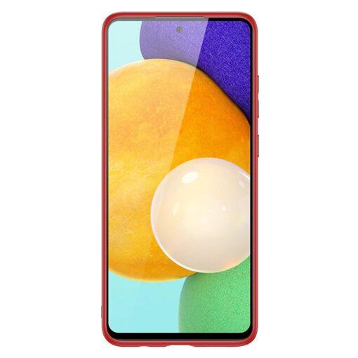 Samsung A52 umbris Dux Ducis Yolo elegant kunstnahast ja silikoonist servadega punane 7