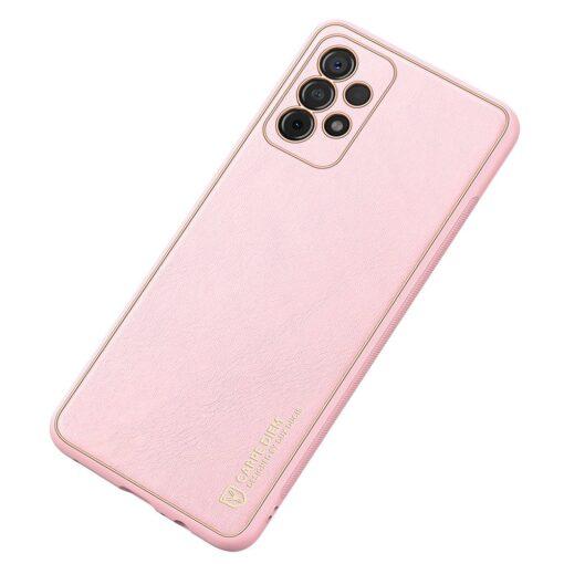 Samsung A52 umbris Dux Ducis Yolo elegant kunstnahast ja silikoonist servadega roosa 1