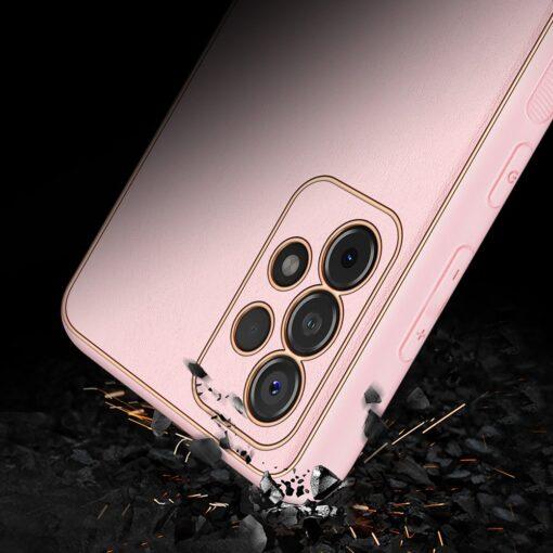 Samsung A52 umbris Dux Ducis Yolo elegant kunstnahast ja silikoonist servadega roosa 10