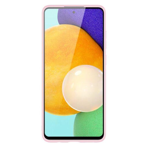 Samsung A52 umbris Dux Ducis Yolo elegant kunstnahast ja silikoonist servadega roosa 5