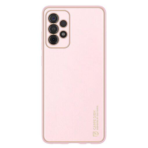 Samsung A52 umbris Dux Ducis Yolo elegant kunstnahast ja silikoonist servadega roosa 6