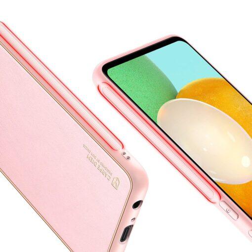 Samsung A52 umbris Dux Ducis Yolo elegant kunstnahast ja silikoonist servadega roosa 7