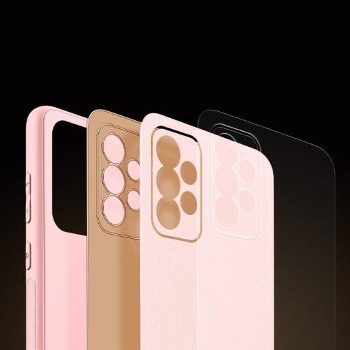 Samsung A52 umbris Dux Ducis Yolo elegant kunstnahast ja silikoonist servadega roosa 9