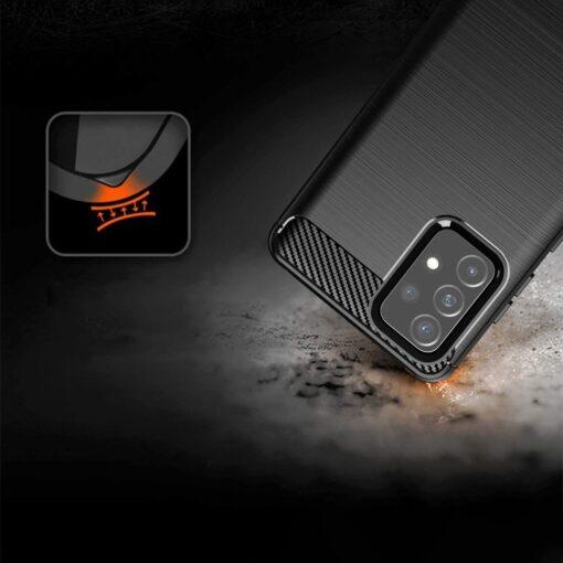 Samsung A52 umbris silikoonist Carbon must 1