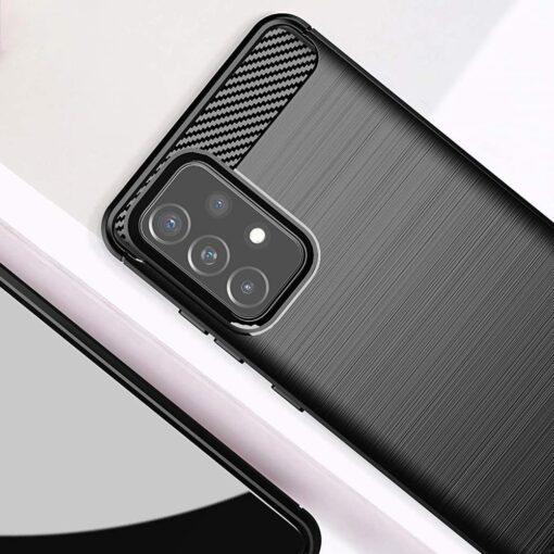 Samsung A52 umbris silikoonist Carbon must 2