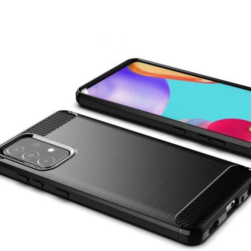Samsung A52 umbris silikoonist Carbon must 3