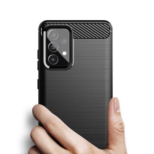 Samsung A52 umbris silikoonist Carbon must 5