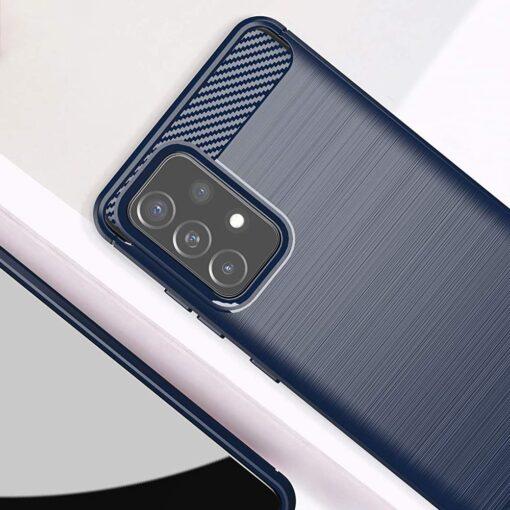 Samsung A52 umbris silikoonist Carbon sinine 1