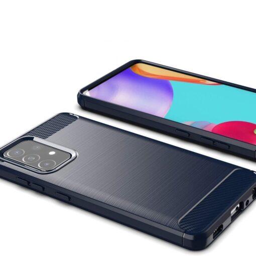 Samsung A52 umbris silikoonist Carbon sinine 2