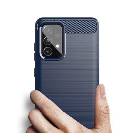 Samsung A52 umbris silikoonist Carbon sinine 3
