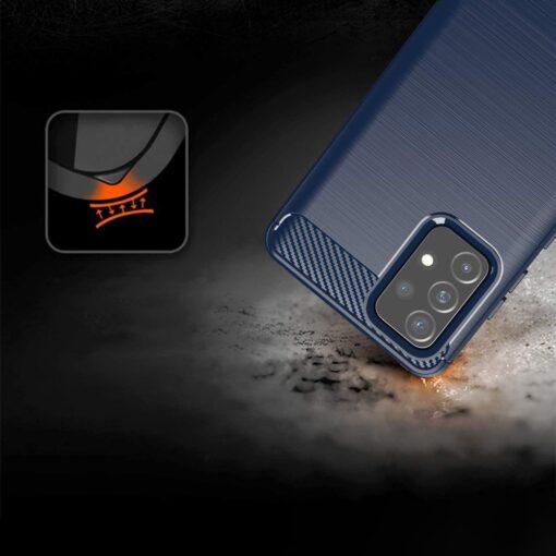 Samsung A52 umbris silikoonist Carbon sinine 4