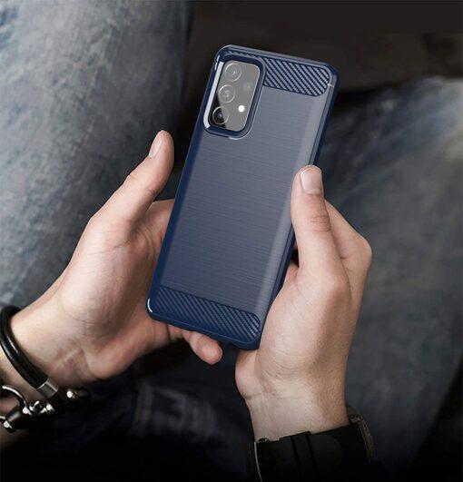 Samsung A52 umbris silikoonist Carbon sinine 5