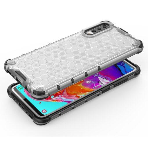 Samsung A70 plastikust kargstruktuuri ja silikoonist raamiga umbris punane 6