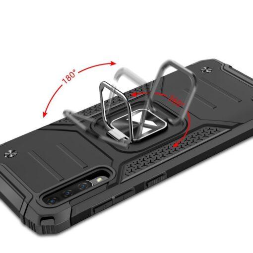 Samsung A70 tugev umbris Ring Armor plastikust taguse ja silikoonist nurkadega roosa 4