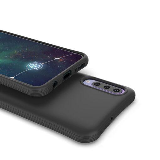 Samsung A70 tugevdatud nurkadega silikoonist umbris must 3