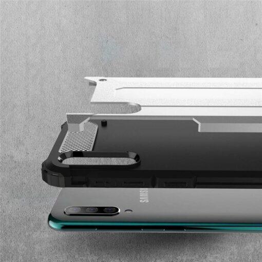 Samsung A70 umbris Hybrid Armor plastikust taguse ja silikoonist raamiga kuldne 1