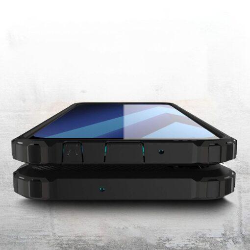 Samsung A70 umbris Hybrid Armor plastikust taguse ja silikoonist raamiga kuldne 3