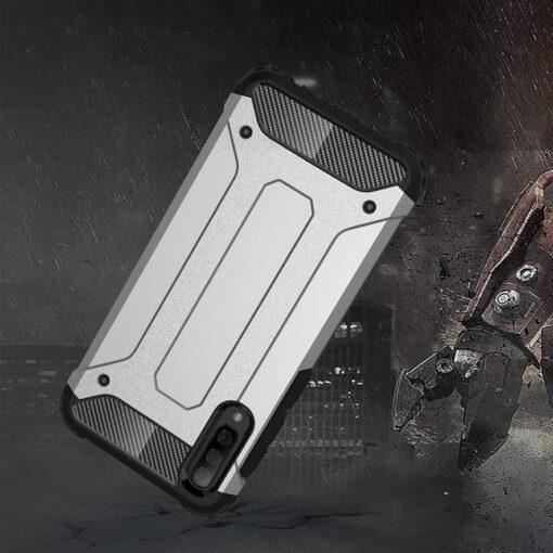 Samsung A70 umbris Hybrid Armor plastikust taguse ja silikoonist raamiga must 1
