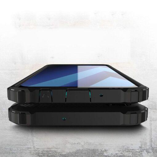 Samsung A70 umbris Hybrid Armor plastikust taguse ja silikoonist raamiga must 3