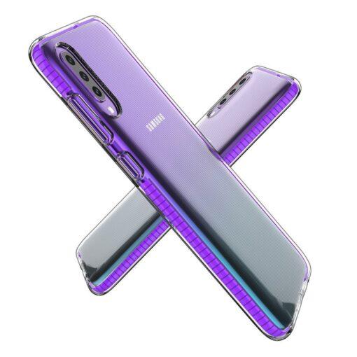 Samsung A70 umbris silikoonist varvilise raamiga roosa 2
