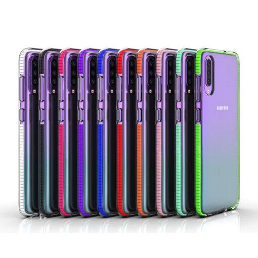 Samsung A70 umbris silikoonist varvilise raamiga roosa 3