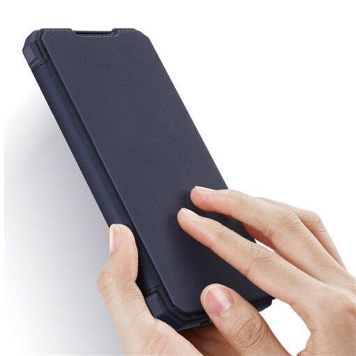 Samsung A71 kunstnahast kaaned kaarditaskuga DUX DUCIS Skin Pro must 1