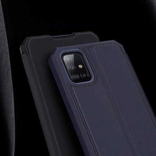 Samsung A71 kunstnahast kaaned kaarditaskuga DUX DUCIS Skin Pro must 14