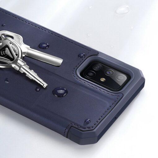 Samsung A71 kunstnahast kaaned kaarditaskuga DUX DUCIS Skin Pro must 15