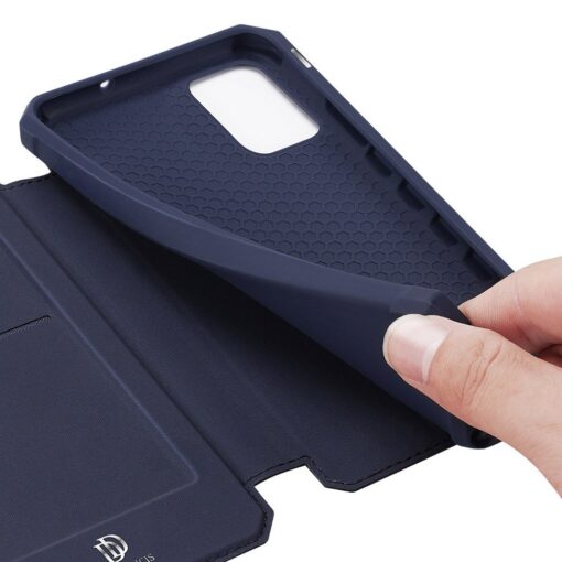 Samsung A71 kunstnahast kaaned kaarditaskuga DUX DUCIS Skin Pro must 17