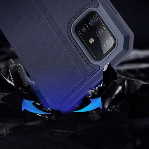 Samsung A71 kunstnahast kaaned kaarditaskuga DUX DUCIS Skin Pro must 19
