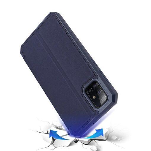 Samsung A71 kunstnahast kaaned kaarditaskuga DUX DUCIS Skin Pro must 2