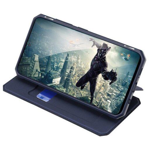 Samsung A71 kunstnahast kaaned kaarditaskuga DUX DUCIS Skin Pro must 4