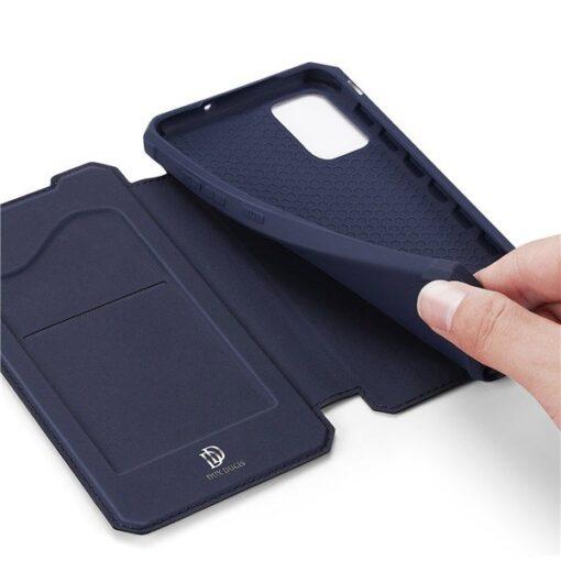 Samsung A71 kunstnahast kaaned kaarditaskuga DUX DUCIS Skin Pro must 5