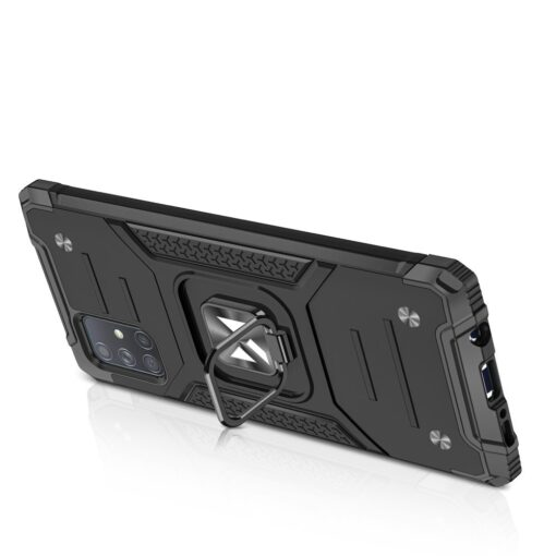 Samsung A71 tugev umbris Ring Armor plastikust taguse ja silikoonist nurkadega sinine 3