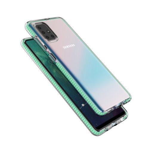 Samsung A71 umbris silikoonist varvilise raamiga roosa 2
