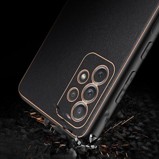Samsung A72 umbris Dux Ducis Yolo elegant kunstnahast ja silikoonist servadega must 10