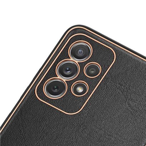 Samsung A72 umbris Dux Ducis Yolo elegant kunstnahast ja silikoonist servadega must 2