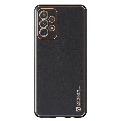 Samsung A72 umbris Dux Ducis Yolo elegant kunstnahast ja silikoonist servadega must 6