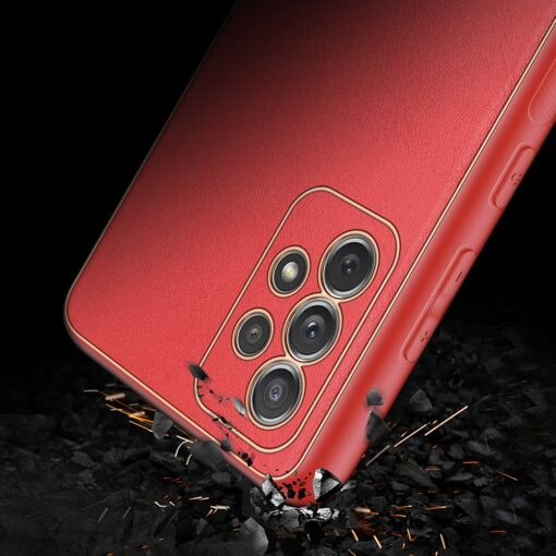 Samsung A72 umbris Dux Ducis Yolo elegant kunstnahast ja silikoonist servadega punane 10