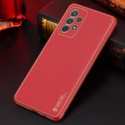 Samsung A72 umbris Dux Ducis Yolo elegant kunstnahast ja silikoonist servadega punane 12