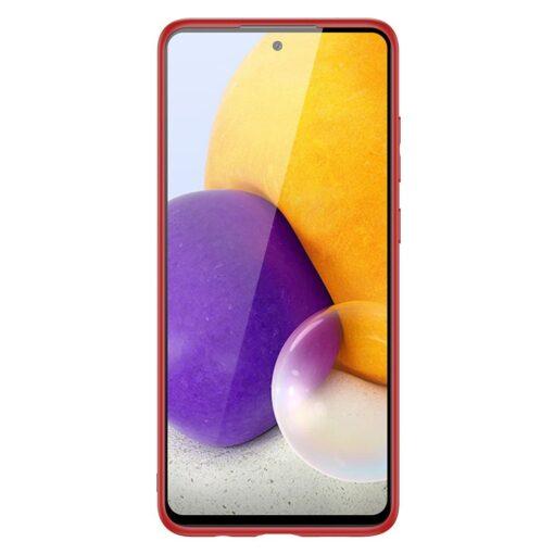Samsung A72 umbris Dux Ducis Yolo elegant kunstnahast ja silikoonist servadega punane 2