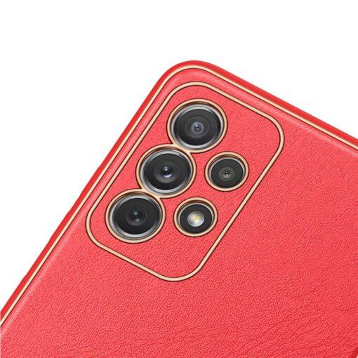 Samsung A72 umbris Dux Ducis Yolo elegant kunstnahast ja silikoonist servadega punane 5