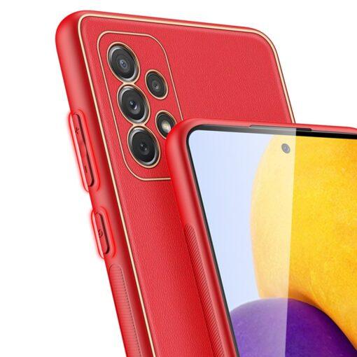Samsung A72 umbris Dux Ducis Yolo elegant kunstnahast ja silikoonist servadega punane 6