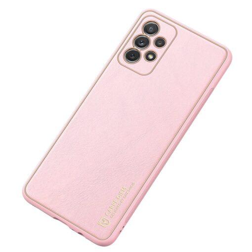 Samsung A72 umbris Dux Ducis Yolo elegant kunstnahast ja silikoonist servadega roosa 1
