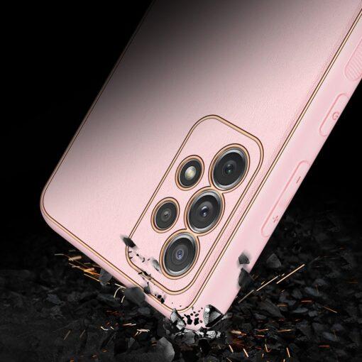 Samsung A72 umbris Dux Ducis Yolo elegant kunstnahast ja silikoonist servadega roosa 10
