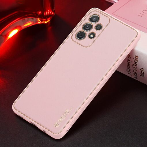 Samsung A72 umbris Dux Ducis Yolo elegant kunstnahast ja silikoonist servadega roosa 12