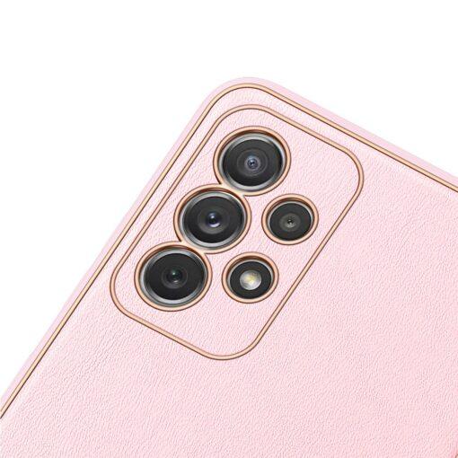 Samsung A72 umbris Dux Ducis Yolo elegant kunstnahast ja silikoonist servadega roosa 2
