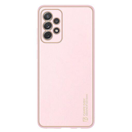 Samsung A72 umbris Dux Ducis Yolo elegant kunstnahast ja silikoonist servadega roosa 6