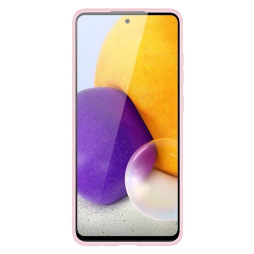 Samsung A72 umbris Dux Ducis Yolo elegant kunstnahast ja silikoonist servadega roosa 7