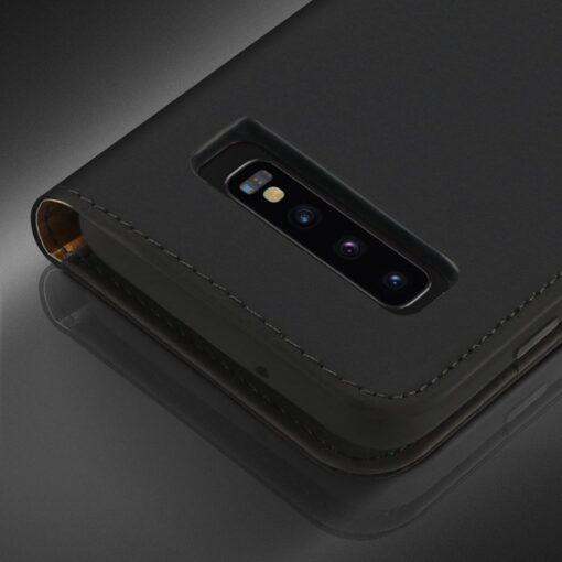 Samsung S10 kaaned nahast kaarditasku ja rahataskuga DUX DUCIS Wish must 10